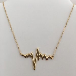 Jewelry - Sterling Silver Necklace Heartbeat 925